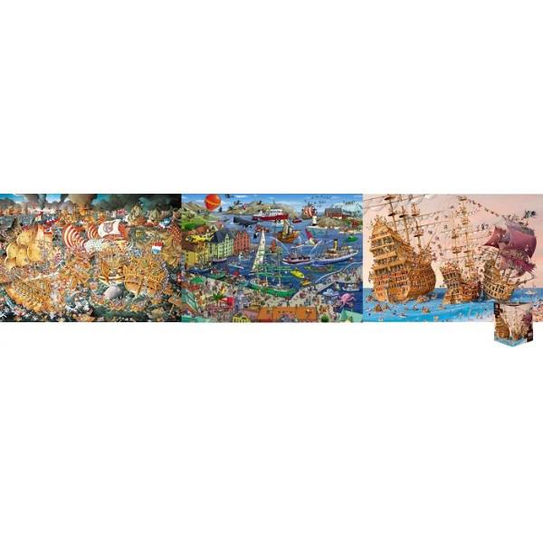 Zestaw-3 x puzzle HEYE-Humorystyczne - Sklep Art Puzzle