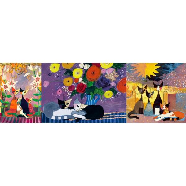 Zestaw 3 x 1000el.- Koty Metalizowane, Rosina Wachtmaister - Sklep Art Puzzle