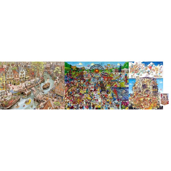 Zestaw 3 x puzzle 1500 el. HEYE - Sklep Art Puzzle
