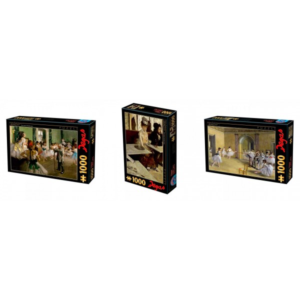 Zestaw 3 x puzzle D-toys: Degas - Sklep Art Puzzle