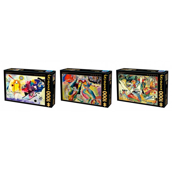 Zestaw 3 x puzzle D-toys: Kandinsky - Sklep Art Puzzle