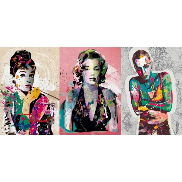 Zestaw: Audrey, Marliyn Monroe oraz Evan McGregor - Sklep Art Puzzle