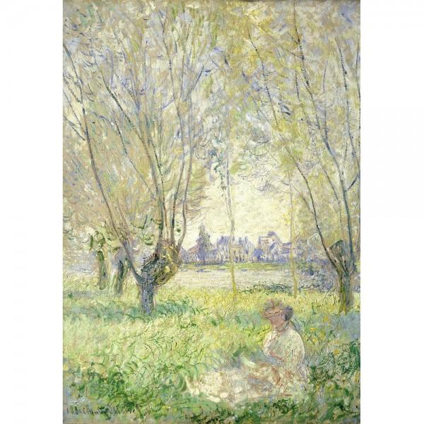 Kobieta pod wierzbami, Monet - Sklep Art Puzzle