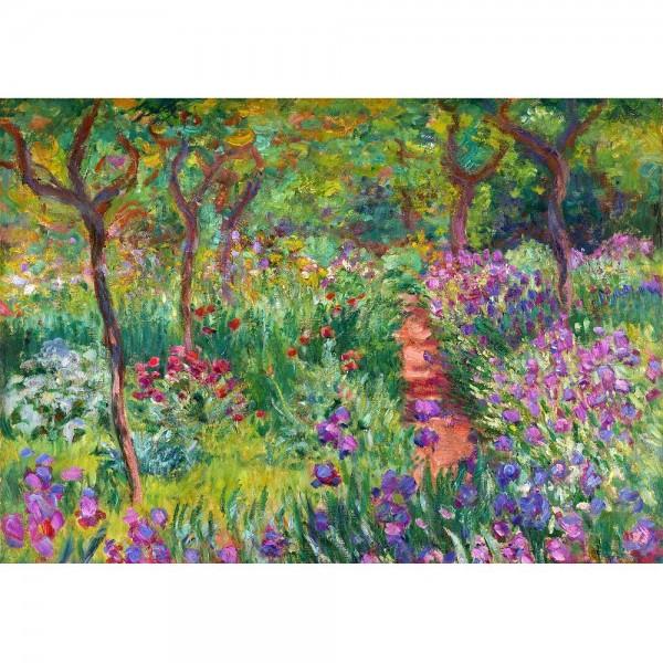 Ogród pełen irysów, Monet - Sklep Art Puzzle
