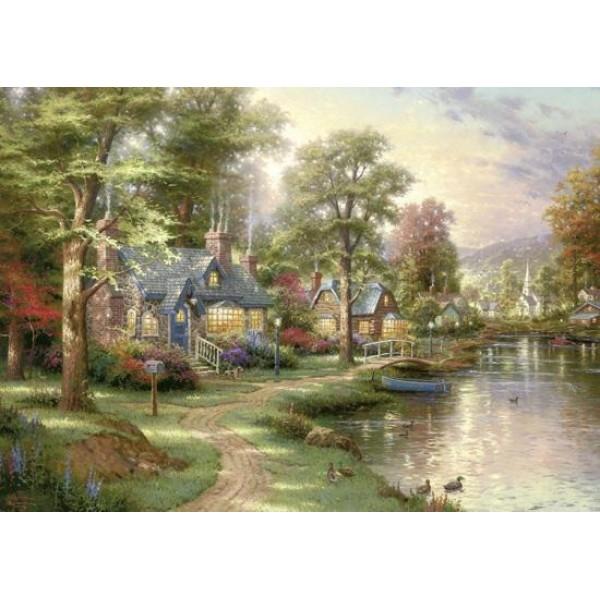 Nad jeziorem, Kinkade - Sklep Art Puzzle