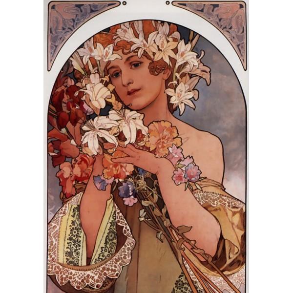 Kwiat, Alfons Mucha, 1897 (1000el.) - Sklep Art Puzzle