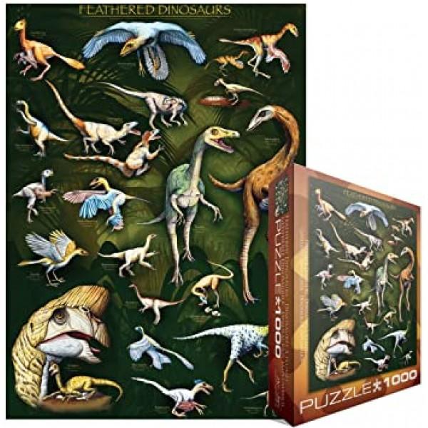 Pierzaste dinozaury (1000el.) - Sklep Art Puzzle