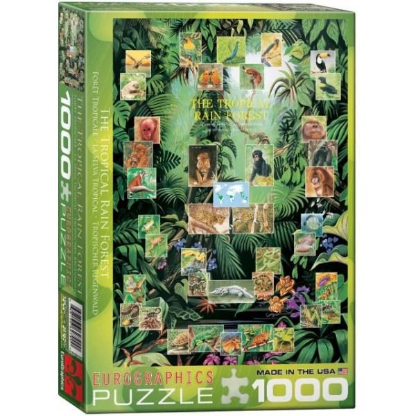 Las deszczowy, Fauna (1000el.) - Sklep Art Puzzle