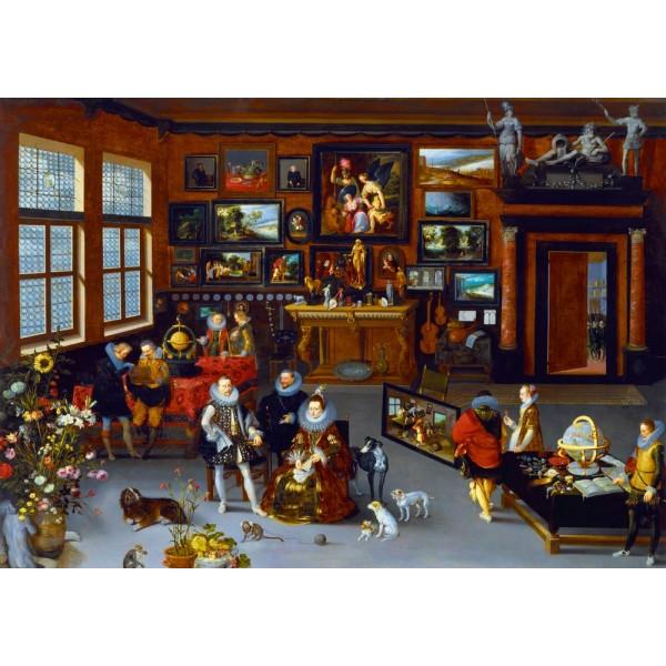Arcyksiążęta Albert i Isabella odwiedzający gabinet kolekcjonerski,Hieronymus Francken 1623  - Sklep Art Puzzle