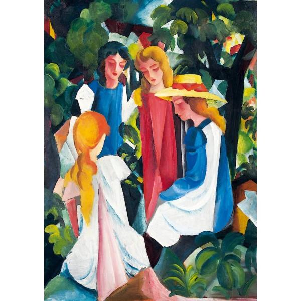 Cztery dziewczyny, August Macke, 1913 - Sklep Art Puzzle