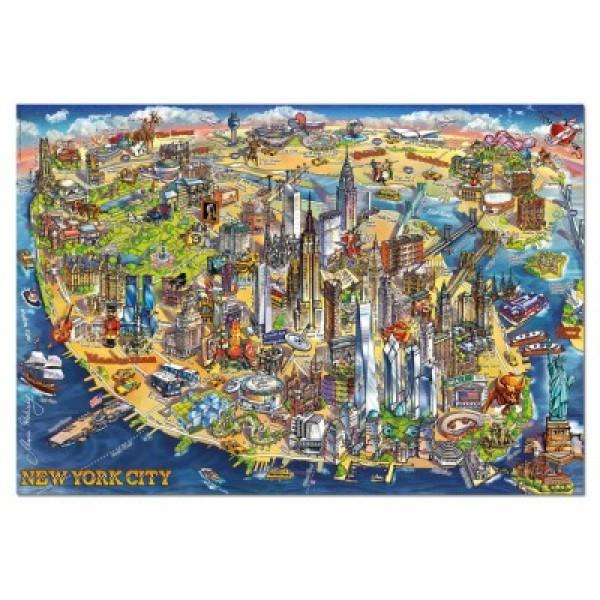 Miasta świata- Nowy York , 500el. (Puzzle+klej) - Sklep Art Puzzle