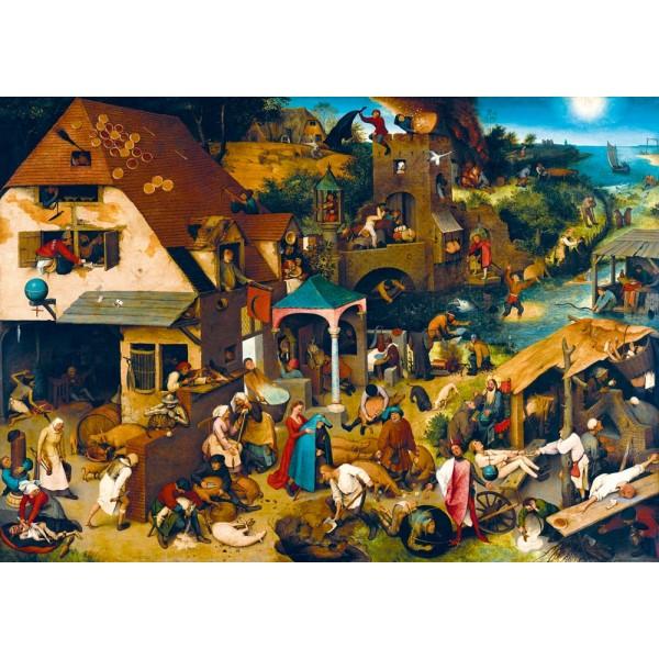 Przysłowia, Brueghel, 1559 (1000el.) - Sklep Art Puzzle