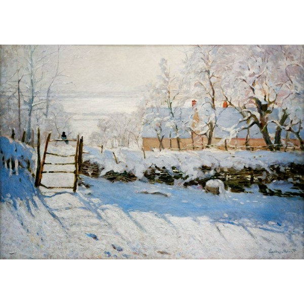 Zima, Monet, 1869 (1000el.) - Sklep Art Puzzle