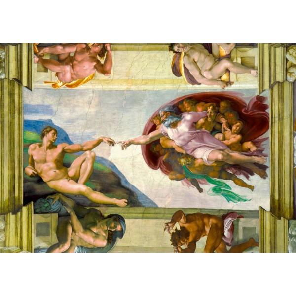 Stworzenie Adama, MIchał Anioł,1511 (1000el.) - Sklep Art Puzzle