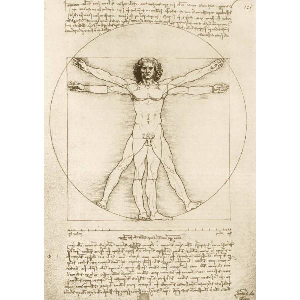 Człowiek Witruwiański, Leonardo da Vinci , 1490 (1000el.) - Sklep Art Puzzle