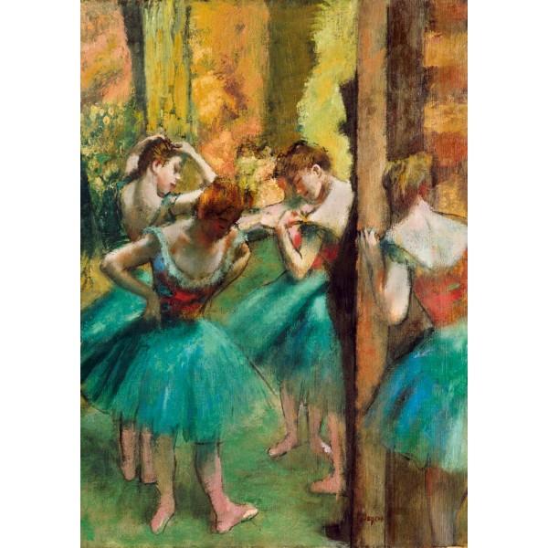 Różowa i zielona tancerka, Degas,1890 (1000el.) - Sklep Art Puzzle