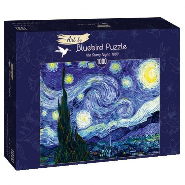 Gwiaździsta noc, Vincent van Gogh,1889 (1000el.) - Sklep Art Puzzle