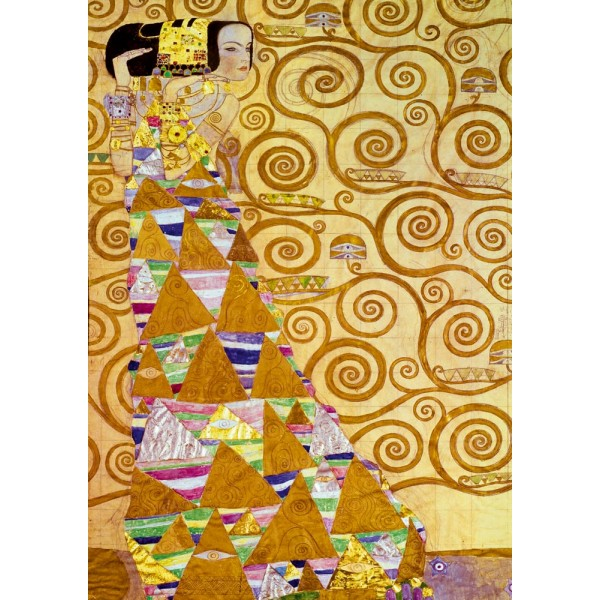 Oczekiwanie, Gustav Klimt, 1905 (1000el.) - Sklep Art Puzzle