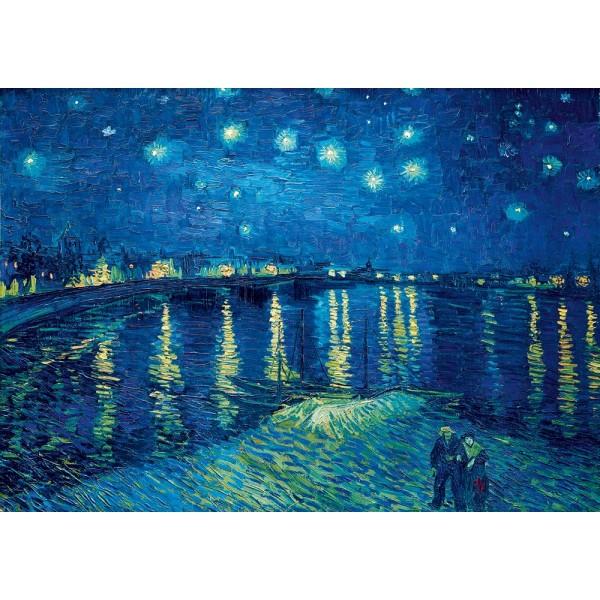 Gwiaździsta noc nad Ronem, Vincent van Gogh,1888 (1000el.) - Sklep Art Puzzle