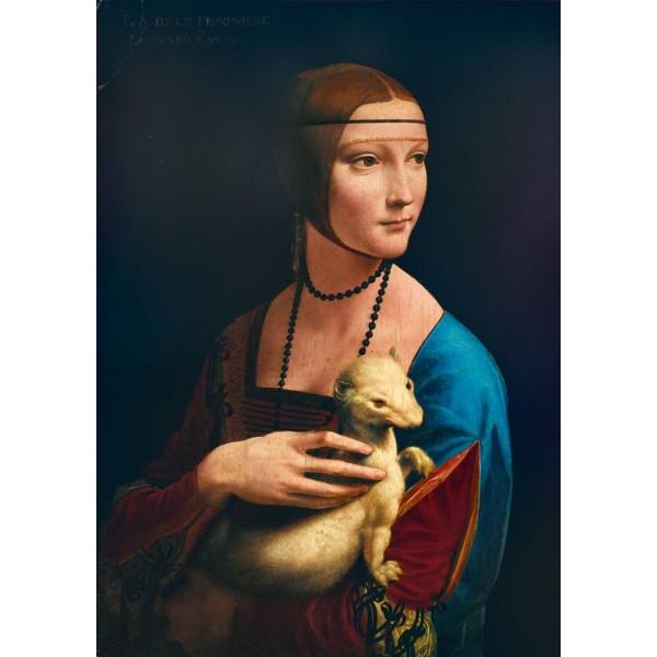 Dama z łasiczką, Leonardo da Vinci, 1489 (1000el.) - Sklep Art Puzzle