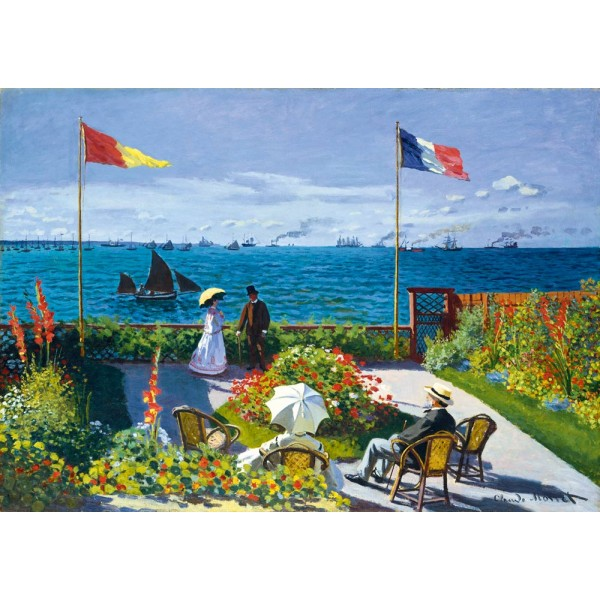 Na tarasie, Claude Monet ,1867 (1000el.) - Sklep Art Puzzle
