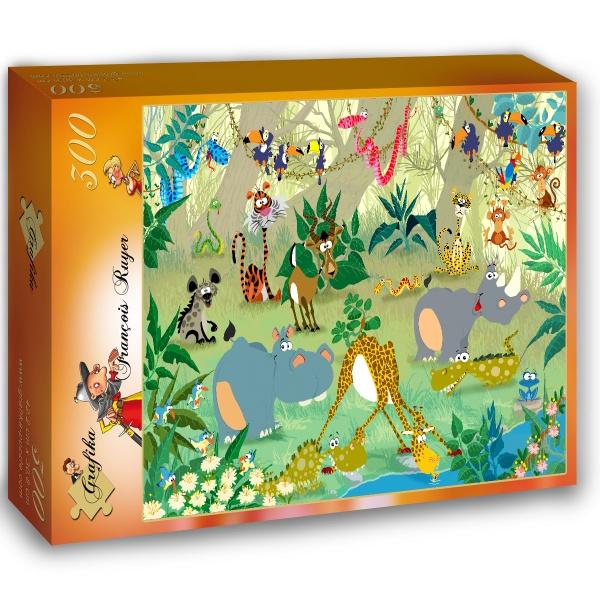 Ruyer Francois , Zwierzęta w dżungli (300el.) - Sklep Art Puzzle