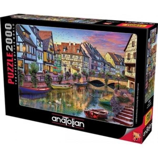Kanał w Colmar (2000el) - Sklep Art Puzzle