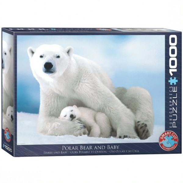 Rodzina niedźwiedzi polarny, 1000el.  (Smart Cut Technology) - Sklep Art Puzzle