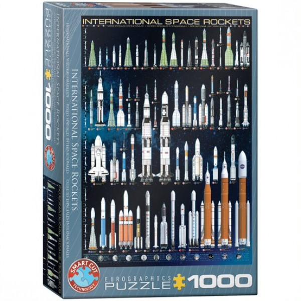 Rakiety kosmiczne, 1000el. (Smart Cut Technology) - Sklep Art Puzzle