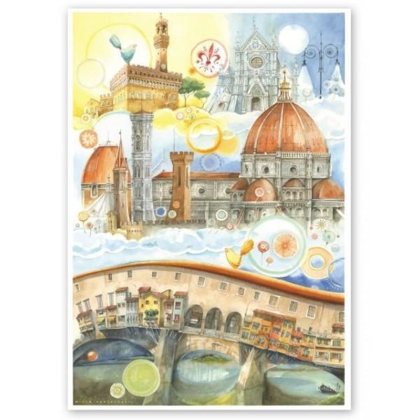 Goccioline, Słynne miejsca w Florencji (1080el.) - Sklep Art Puzzle