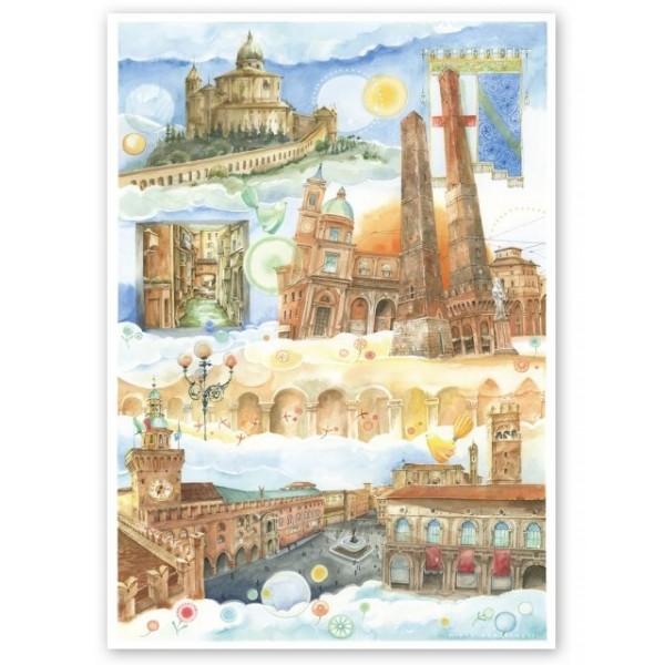 Goccioline, Słynne miejsca w Bolonii (1080el.) - Sklep Art Puzzle