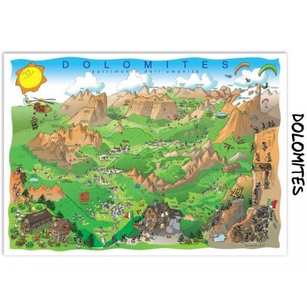 Mrówki zwiedzają Dolomity (1080 el.) - Sklep Art Puzzle