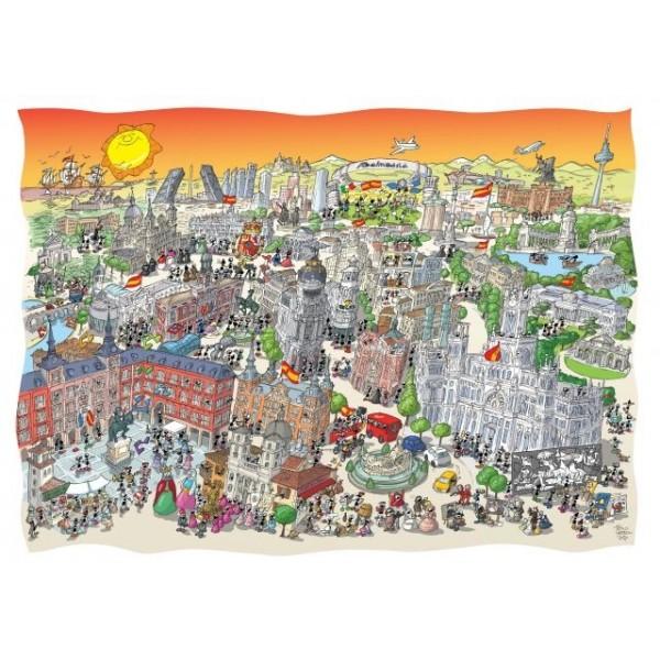 Mrówki zwiedzają Madryt (1080el.) - Sklep Art Puzzle