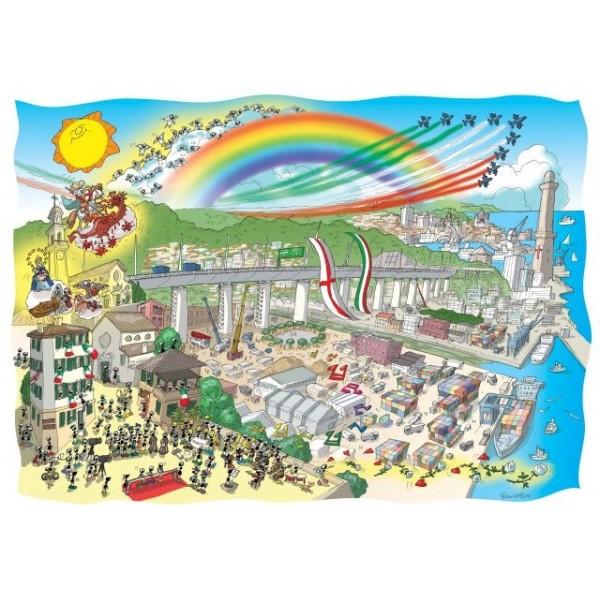 Mrówki na uroczystości otwarcia Mostu Cuero w Genuii (1080 el.) - Sklep Art Puzzle