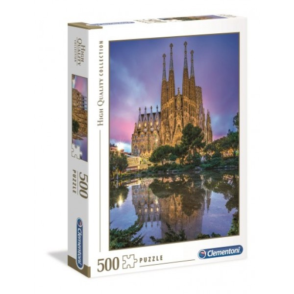 Hiszpania, Barcelona-Katedra Sagrada Familia (500el.) - Sklep Art Puzzle