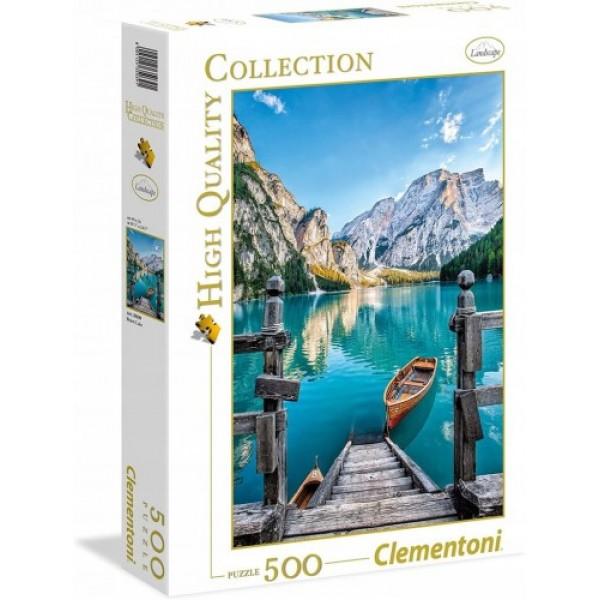Włochy, Dolomity, Jezioro Braise (500el.) - Sklep Art Puzzle