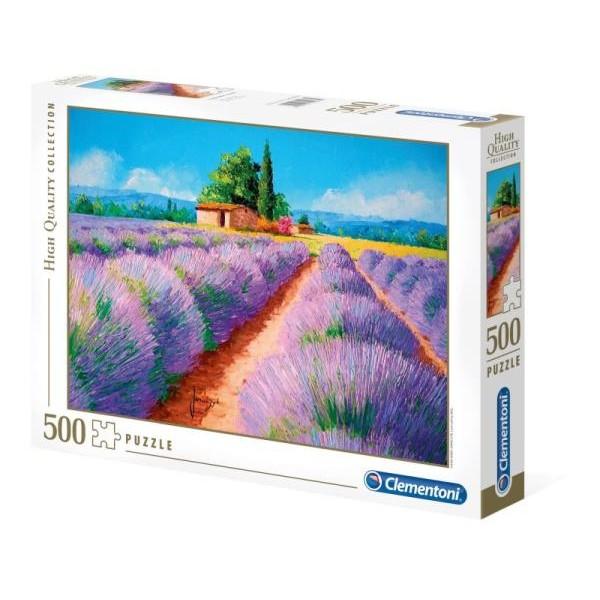 Lawendowe pole (500el.) - Sklep Art Puzzle
