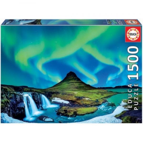 Islandia, Aurora borealis, 1500el.(Puzzle+klej) - Sklep Art Puzzle