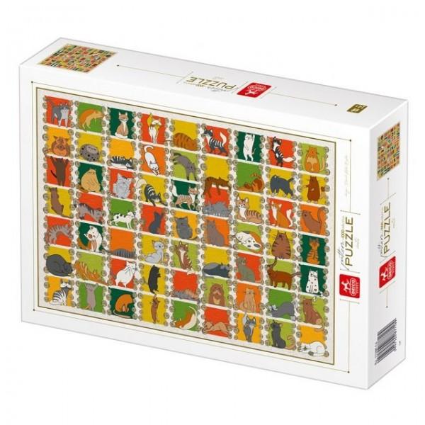 Natura, Kolekcja-koty (1000el.) - Sklep Art Puzzle
