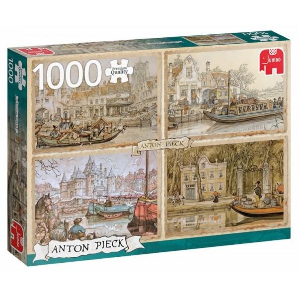 Łodzie, Anton Pieck (1000el.) - Sklep Art Puzzle