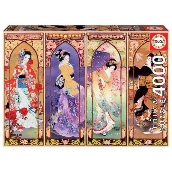 Japońskie piękności (4000el.) - Sklep Art Puzzle