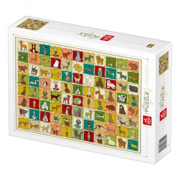 Natura, Kolekcja-psy (1000el.) - Sklep Art Puzzle