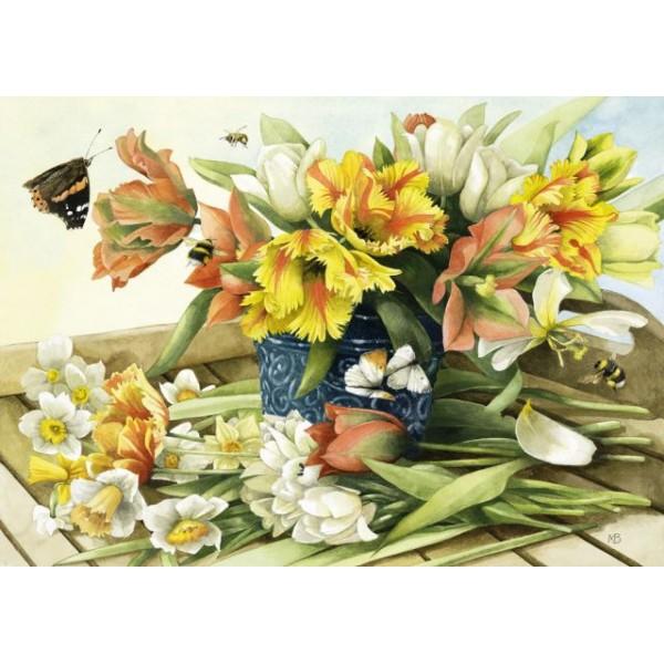 Wiosenne kwiaty, Bastin - Sklep Art Puzzle