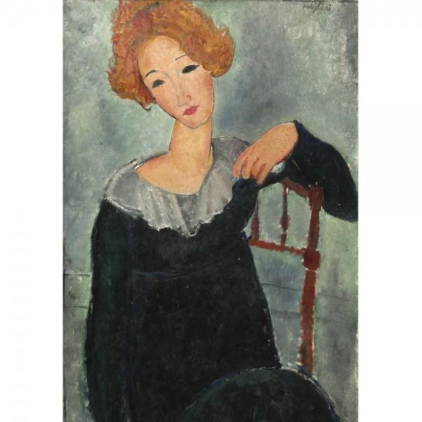 Czerwonowłosa, Modigliani - Sklep Art Puzzle