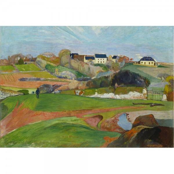 Krajobraz w Le Pouldu, Gauguin - Sklep Art Puzzle