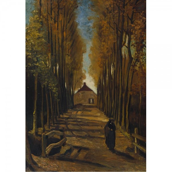 Aleja topoli jesienią, Van Gogh - Sklep Art Puzzle