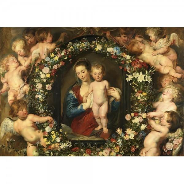 Madonna z girlandą, Rubens - Sklep Art Puzzle
