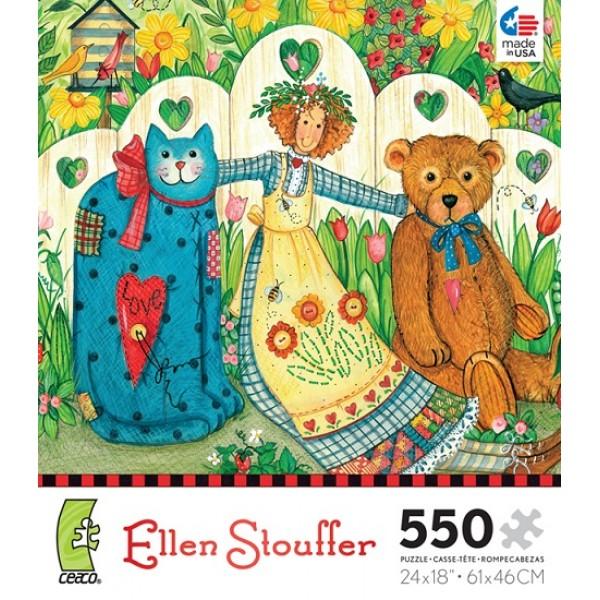 Dziewczynka z przyjaciółmi, Ellen Stouffer - Sklep Art Puzzle