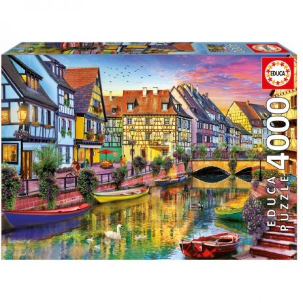 Kanał Colmar, Francja - Sklep Art Puzzle