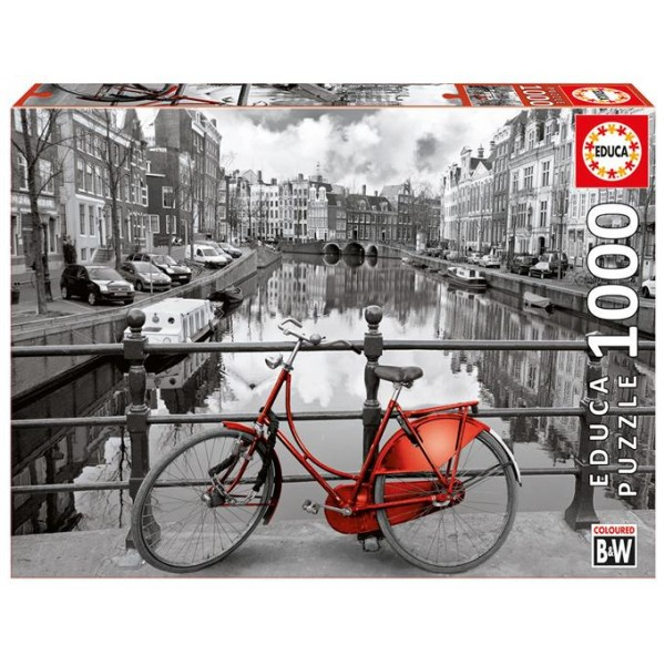 Kanał w Amsterdamie (Puzzle+klej) - Sklep Art Puzzle
